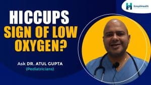 Are hiccups a sign of low oxygen?